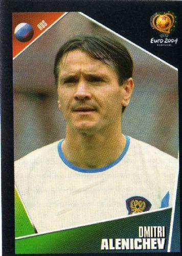 Dmitri Alenichev, en un cromo de la Eurocopa de 2000 (PANINI).