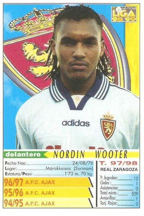 Cromo de Wooter de su época en el Zaragoza (MC Sport).
