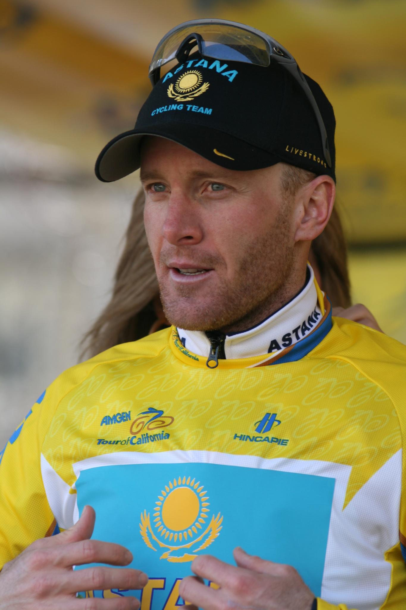 Leipheimer, en el Tour de California de 2009 (WIKIPEDIA).