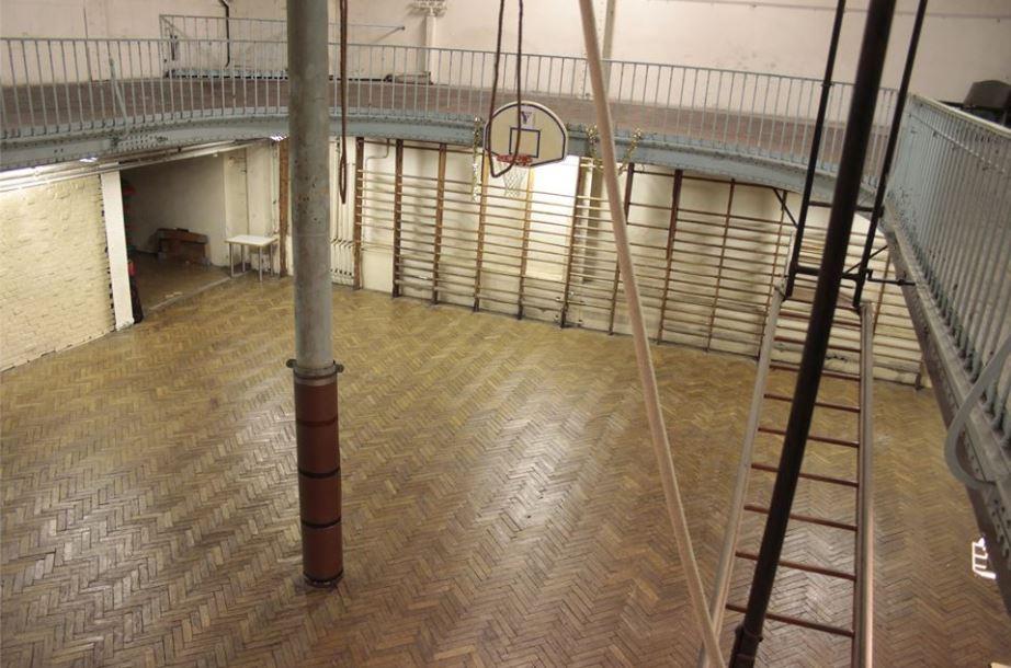 Una vista de la pista parisina (Facebook Musée Virtuel du Basketball).