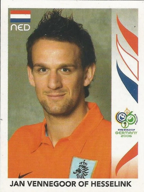 Cromo de Vennegoor of Hesselink para el Mundial de 2006 (PANINI).