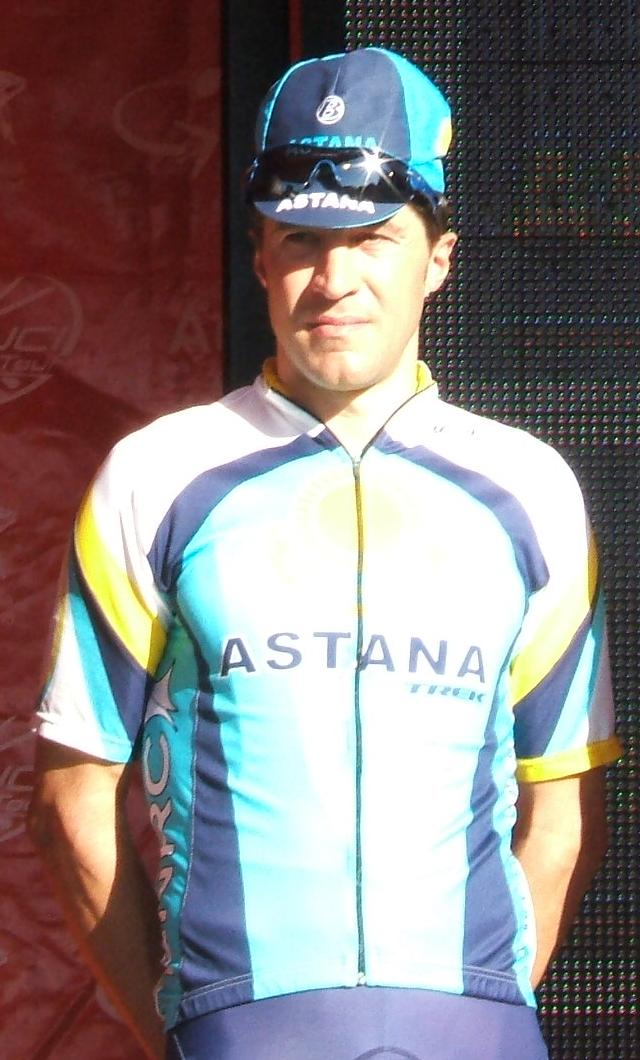 Rubiera, con el maillot de Astana (WIKIPEDIA).
