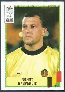Cromo de Gaspercic de la Euro 2000, que no llegó a disputar (PANINI),
