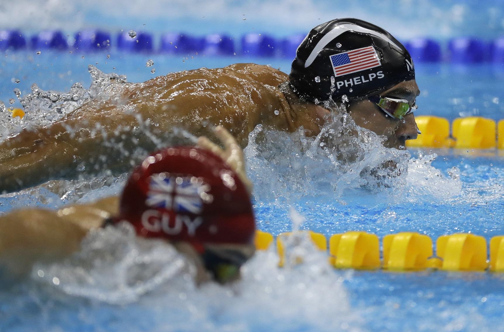 Phelps, en acción en los Juegos de Río (GTRES).