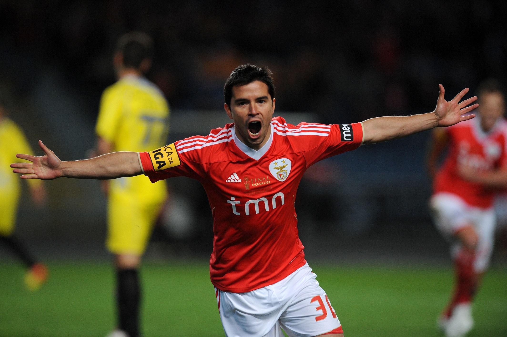 Saviola, celebrando un gol con el Benfica en 2012 (GTRES).