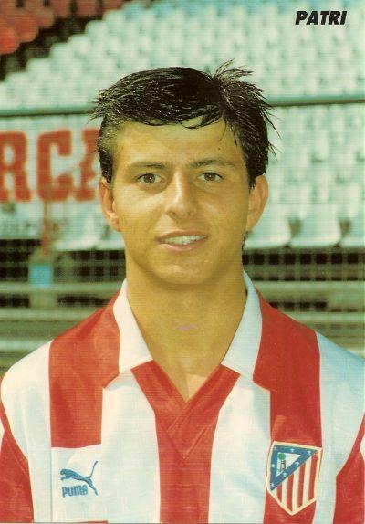Patri, con la camiseta del Atlético (clubatleticodemadrid).