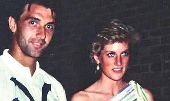 'Bobo' Zivojinovic, con Diana de Gales en 1987 (YOUTUBE).
