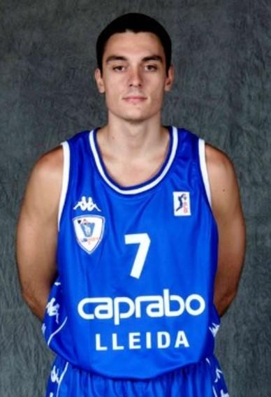 José Lasa, con la camiseta del Caprabo Lleida (ACB).