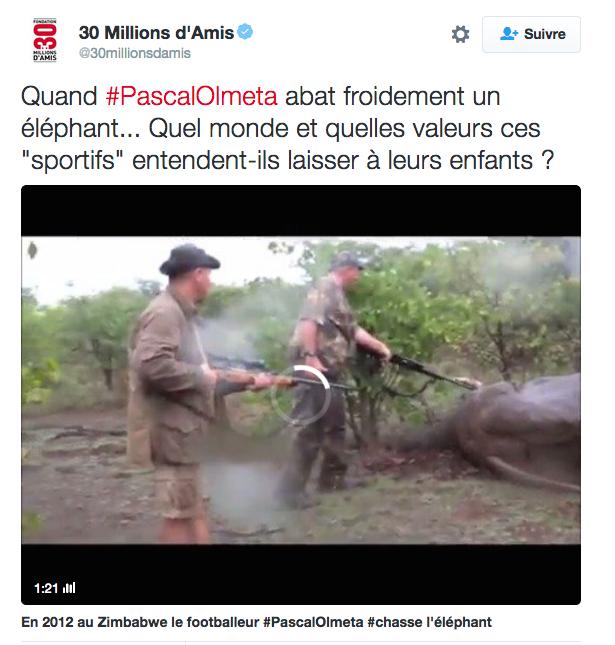 Captura de un tuit que denuncia la actividad de Olmeta en África (TWITTER).
