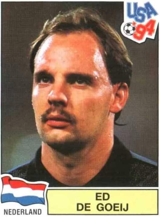 Cromo de De Goey para l Mundial de 1994 (PANINI).