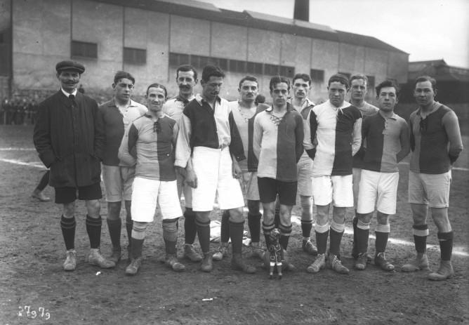 Jugadores del Le Havre, en 1913 (WIKIPEDIA).