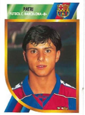 Patri, en un cromo con el Barça B (Ed. Este).
