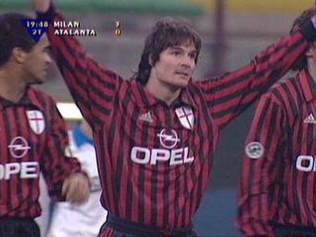 Guglielminpietro, celebrando un gol con el Milan (YOUTUBE).