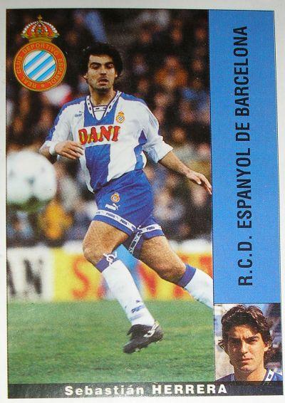 Cromo de Herrera con el Espanyol (PANINI).