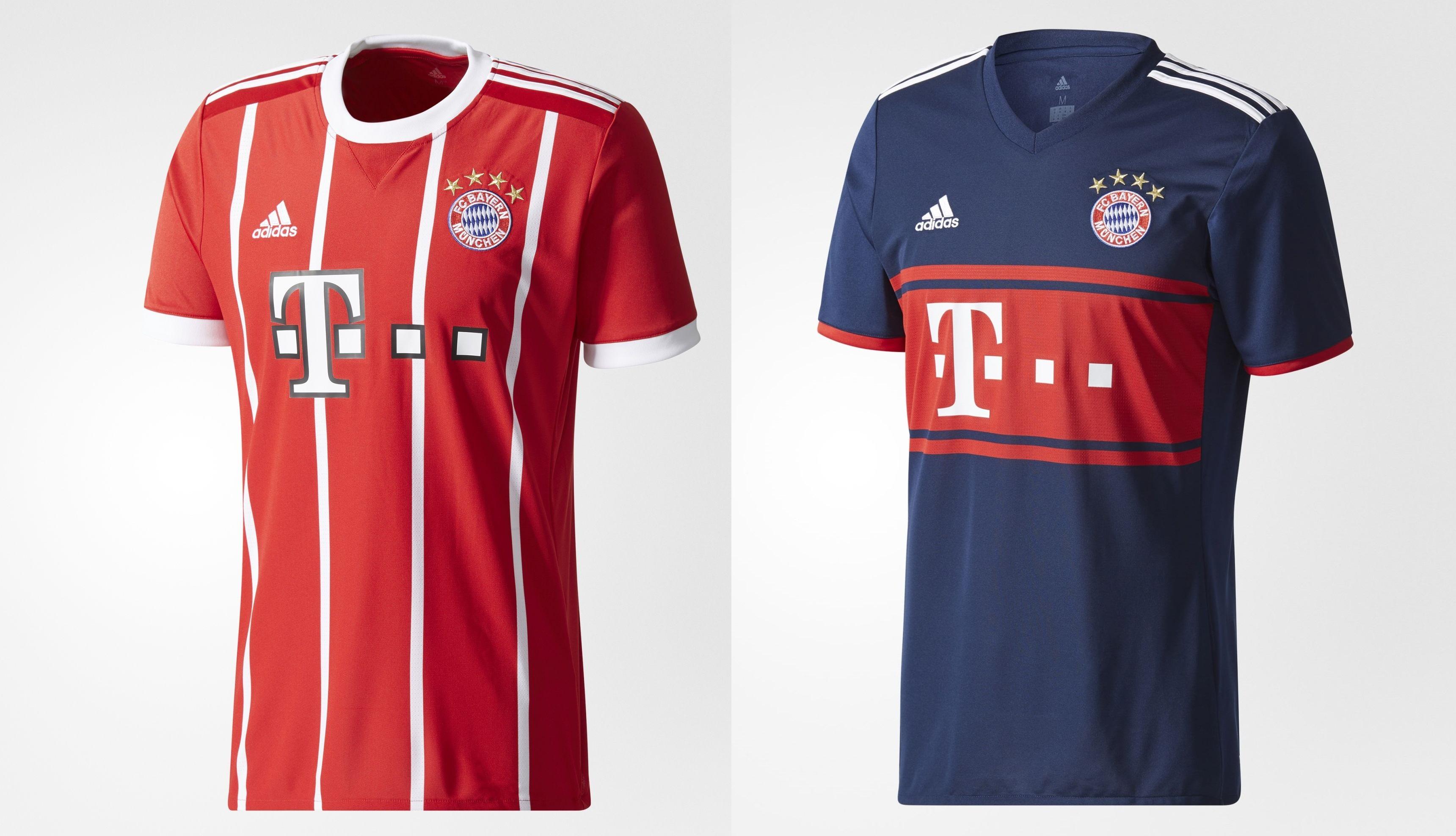 Camisetas del Bayern para la temporada 2017 2018. f7c7d5af19e