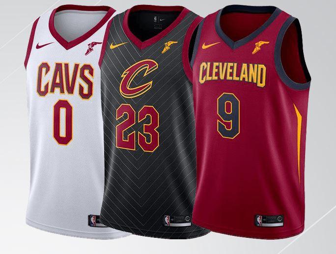 Camisetas para la historia. Cleveland Cavaliers  vuelta a los orígenes tras  el azul de los 80 663d1aa31be53