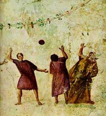 Resultado de imagen de antigua roma pelota