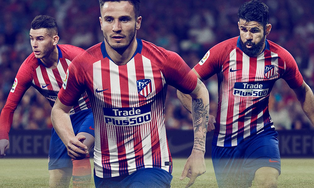 Kit del Atleti para la temporada 2018 2019 (Atlético de Madrid). 2017ed23c2bbe