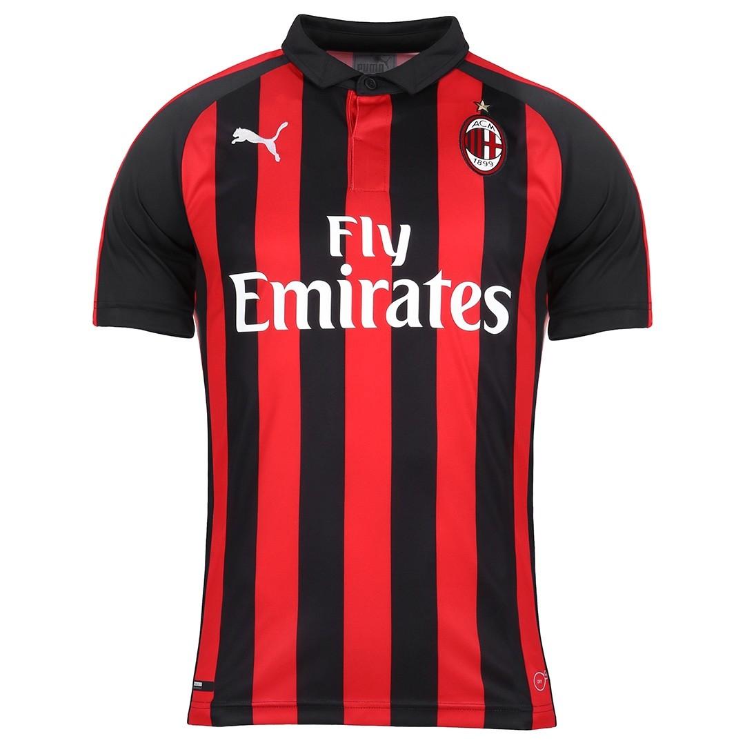1f53e6d9f272f Camiseta del AC Milan para la temporada 2018 2019 (PUMA).