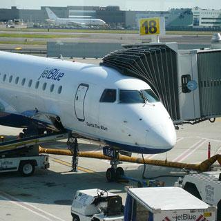 Un avión de la compañía JetBlue.