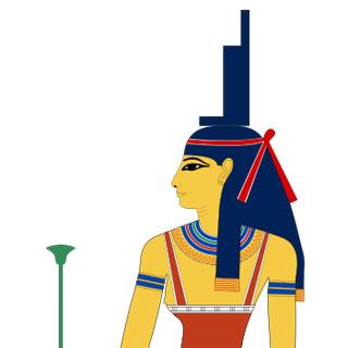Representación de la diosa Isis.