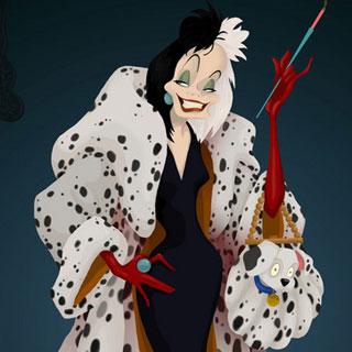 El mismo mechón que Cruella de Vil.