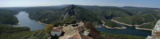 Panorámica desde el castillo de Monfragüe. © Alejandro Rodríguez Villalobosg
