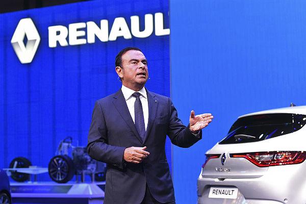 El CEO de Renault, Carlos Ghosn, en la Feria del Motor de Frankfurt (Efe).