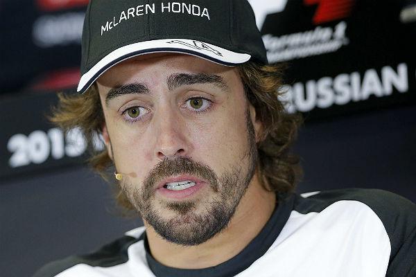 Alonso, hoy en la rueda de prensa de Sochi (Foto: Efe).