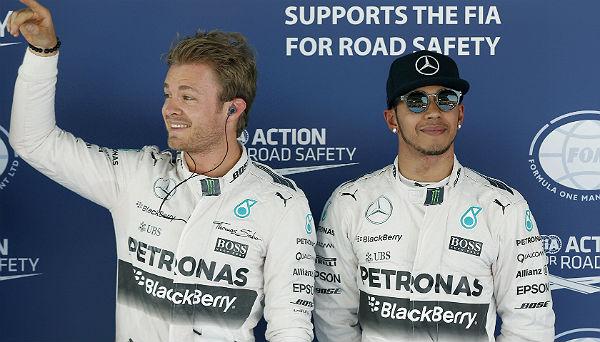 Rosberg y Hamilton (Foto: Efe).