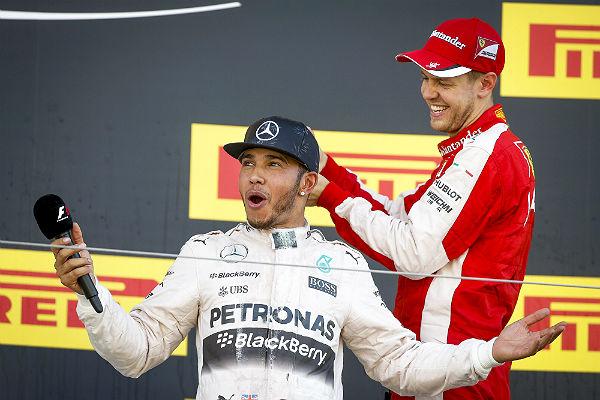 Hamilton y Vettel (Foto: Efe).