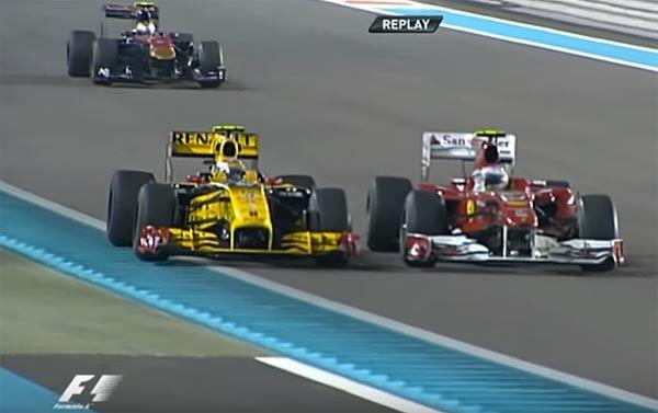 Alonso y un tal Petrov, en Abu Dhabi 2010.