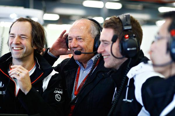 Alegría en el box de McLaren (Foto: McLaren).