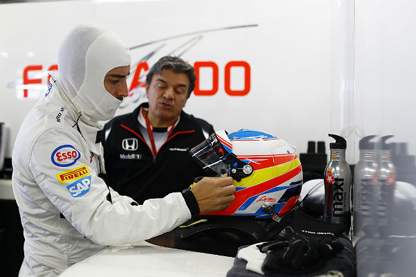 Alonso, en el circuito de Sochi (Foto: McLaren).
