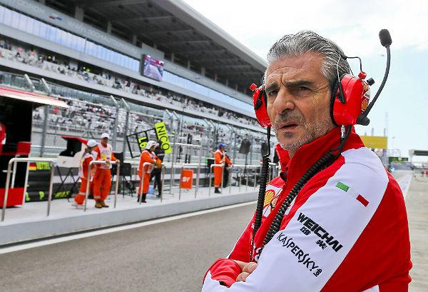 El director deportivo de Ferrari, Mauricio Arrivabene.