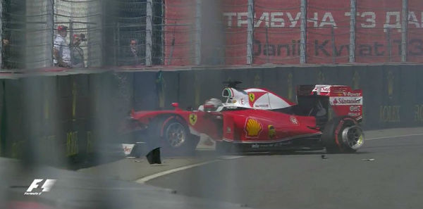 Vettel, fuera de combate en la salida del GP de Rusia.