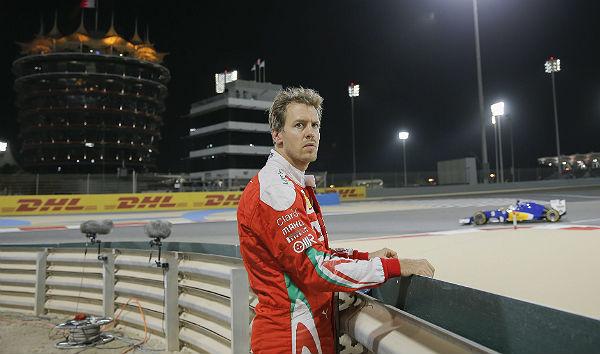 Vettel, tras su abandono este año en Bahréin (Foto: Efe).