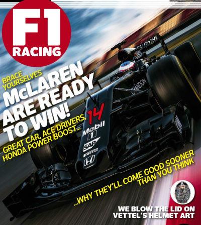Portada de la revista F1Racing.