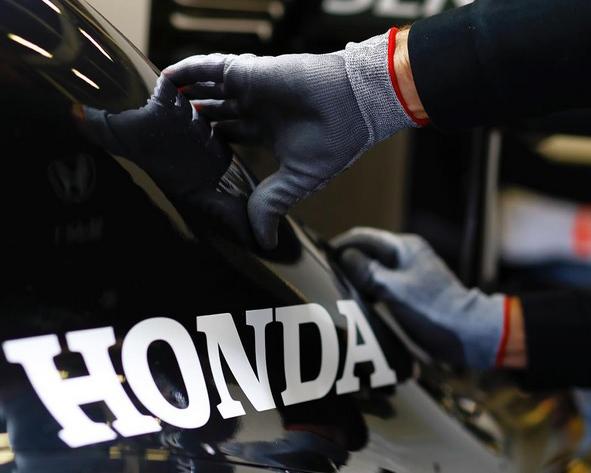 El logo de Honda, en la carrocería del McLaren (Foto: Honda).