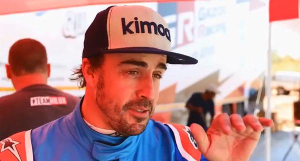 """Alonso, en el Kalahari: """"Es difícil saber cómo son de altos los baches"""""""
