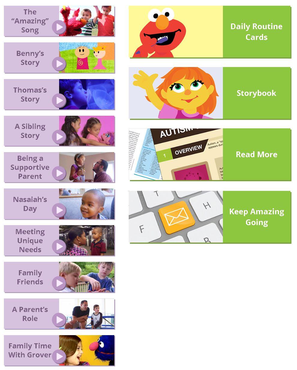 Resultat d'imatges de sesam street y el autismo web