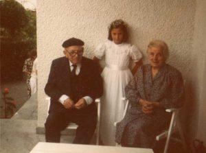 Con mis bisabuelos.