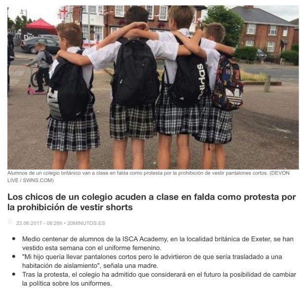 195be078e4a42 Leo en redes sociales y comentarios de blogs y noticias a padres  defendiendo el uniforme porque iguala a todos los niños