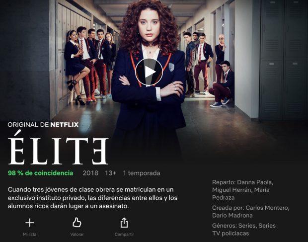 Es élite De Netflix Para Mayores De 13 Años