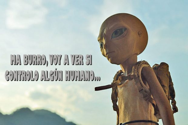 Alien aburrido.