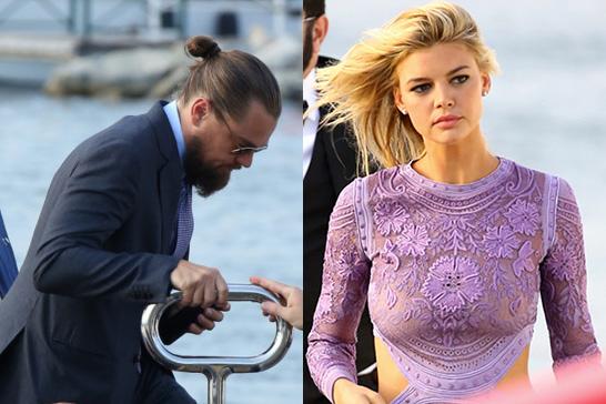 Leonardo DiCaprio y su novia, a la llegada en yate a su fiesta en Saint Tropez. © Gtres