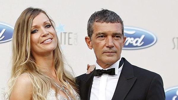 Antonio Banderas y su novia, Nicole Kimpel, en la gala Starlite, anoche. Foto: © Efe
