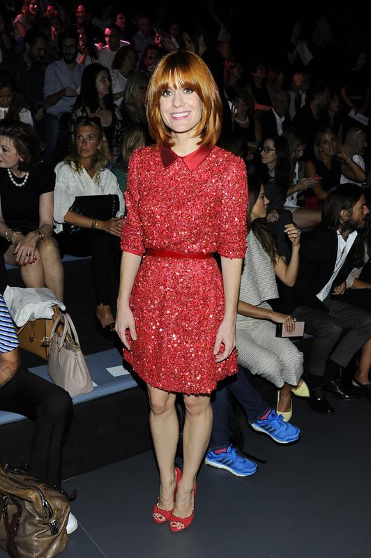 Alexandra Jimenez en el front row de la firma. © Gtres