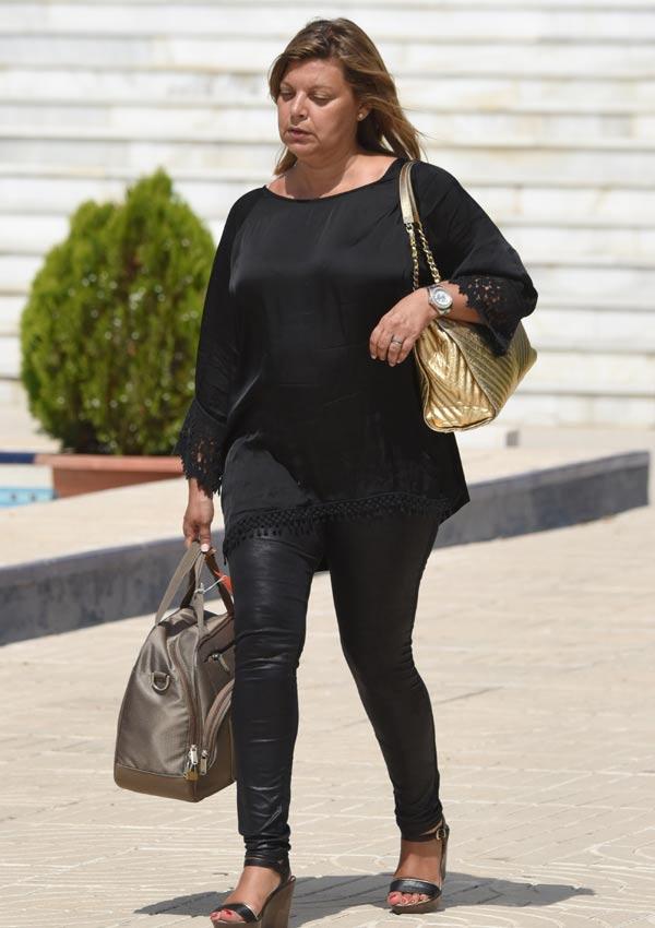 Terelu Campos, a la llegada del tanatorio de Málaga. © Gtres