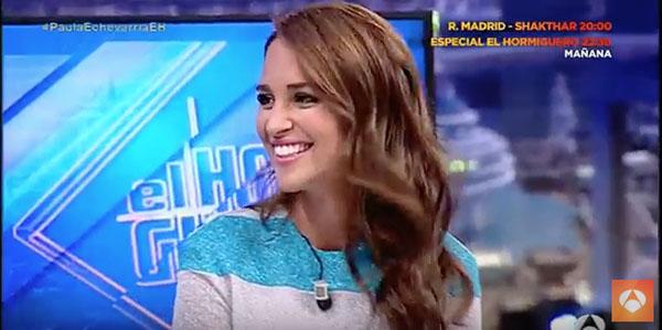 Paula Echevarría, ayer, en El Hormiguero